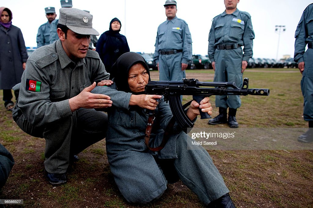 Female Afghan police officers get paramilitary training April 21 2010 in the east of Afghanistan Afghan police are receiving paramilitary training...