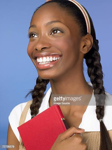 Female African American high school student