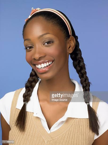 Femme afro-américaine lycéen Étudiant