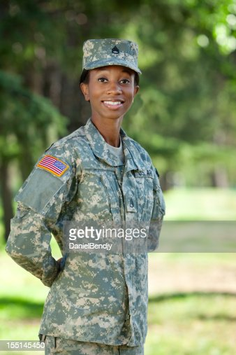 Female African American Soldier Series: Outdoor Portrait