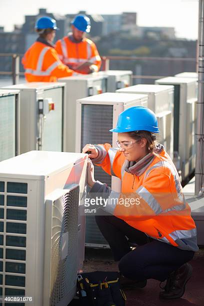 female air conditioning engineer