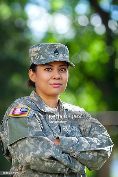 Donna soldato americano serie: Ritratto all'aperto