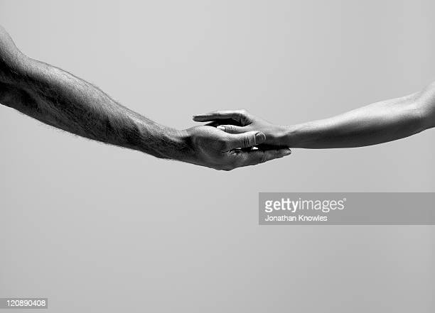 Female and male hands