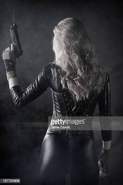 Female Assassin with gun