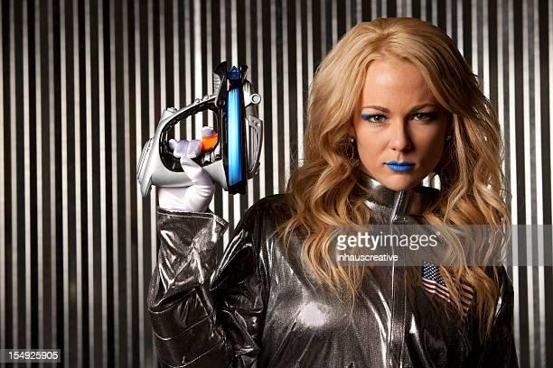 Female Astronaut Space Warrior