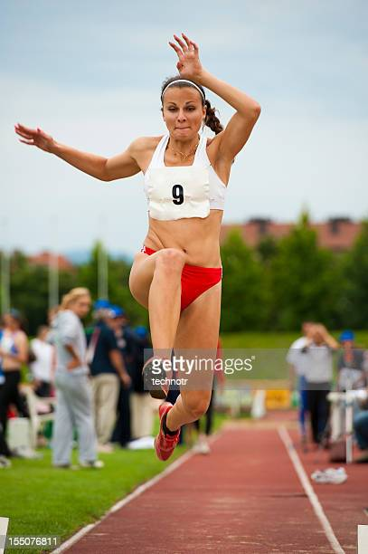 Female athlete at long jump