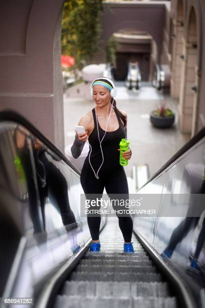 Female athlete in the city