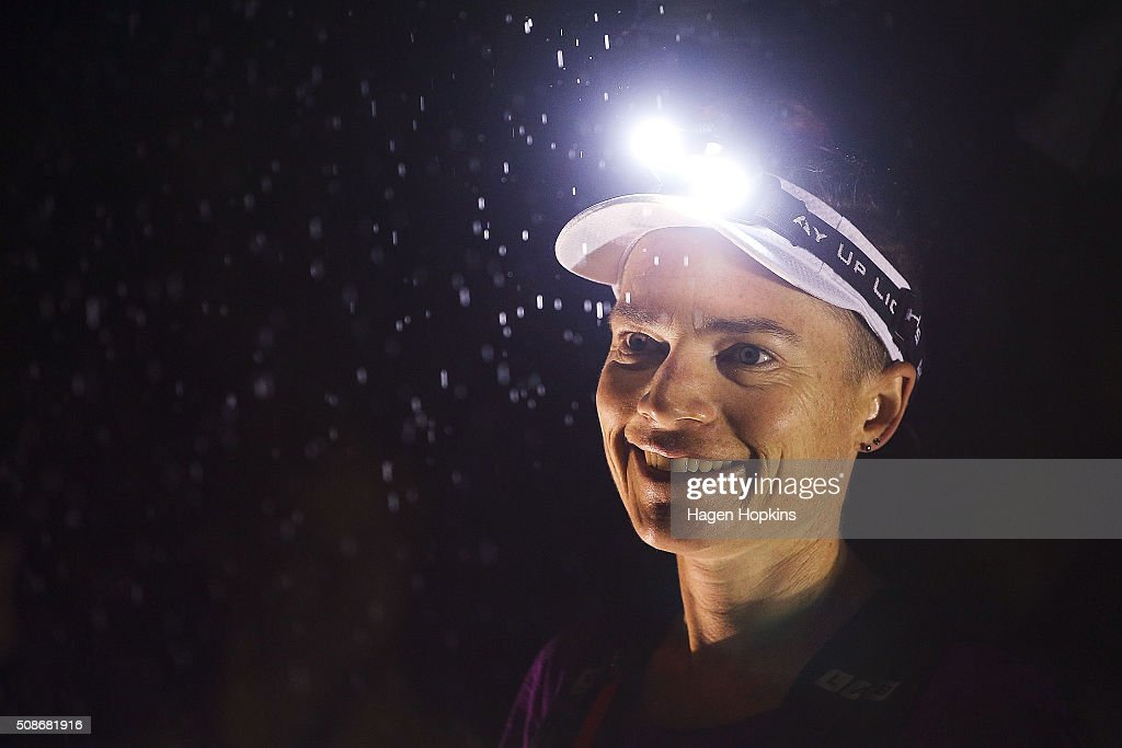 A female athlete looks on during the Tarawera Ultramarathon on February 6, 2016 in Rotorua, New Zealand.
