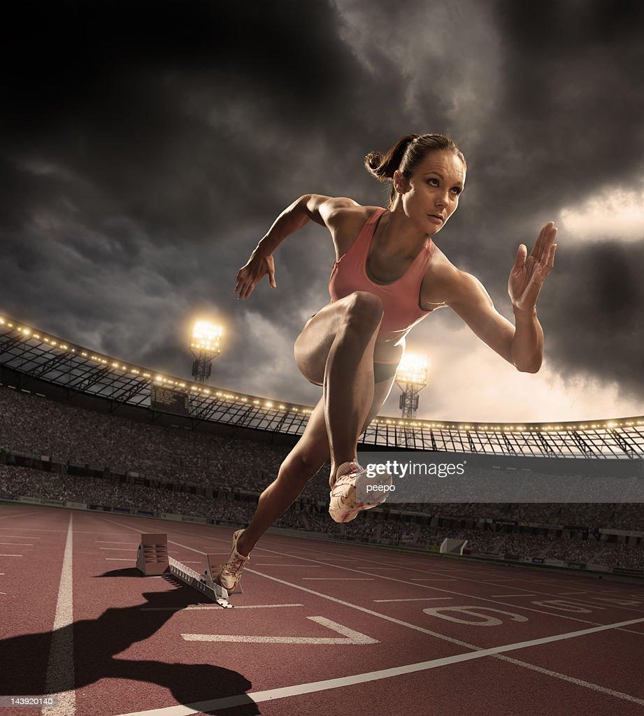 female athlete : Stock Photo