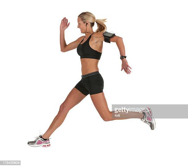 Female athlete running