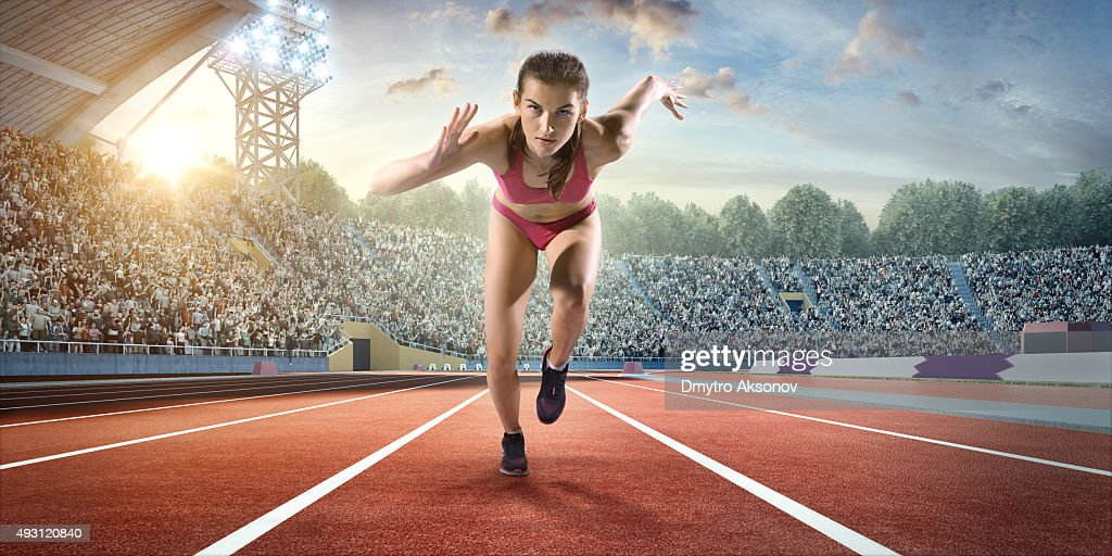 Femme athlète Sprint : Photo