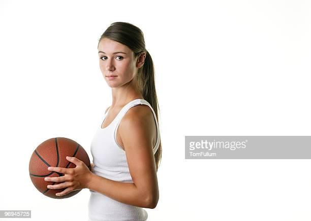 Female Athlete with Basketball