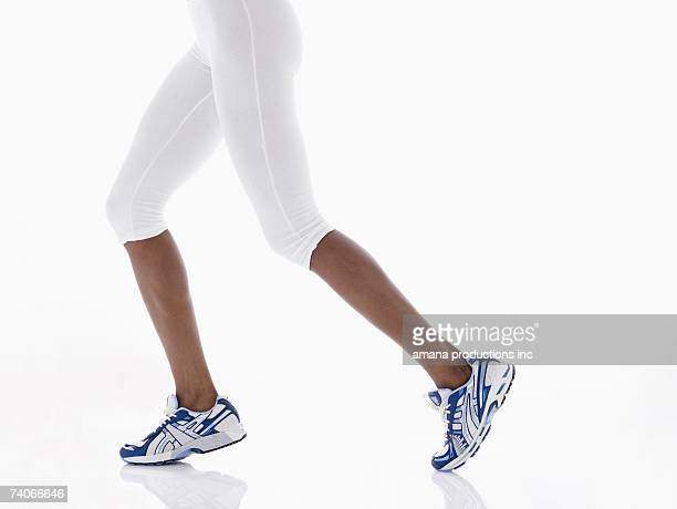 Female athlete's legs (low section)