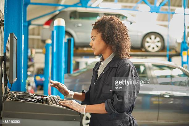 female auto mechanic