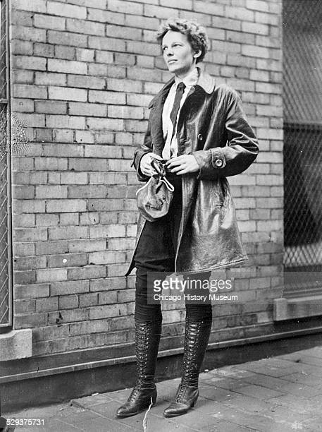 Female aviator Amelia Earhart Chicago Illinois 1928