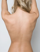 Female back with beautiful skin