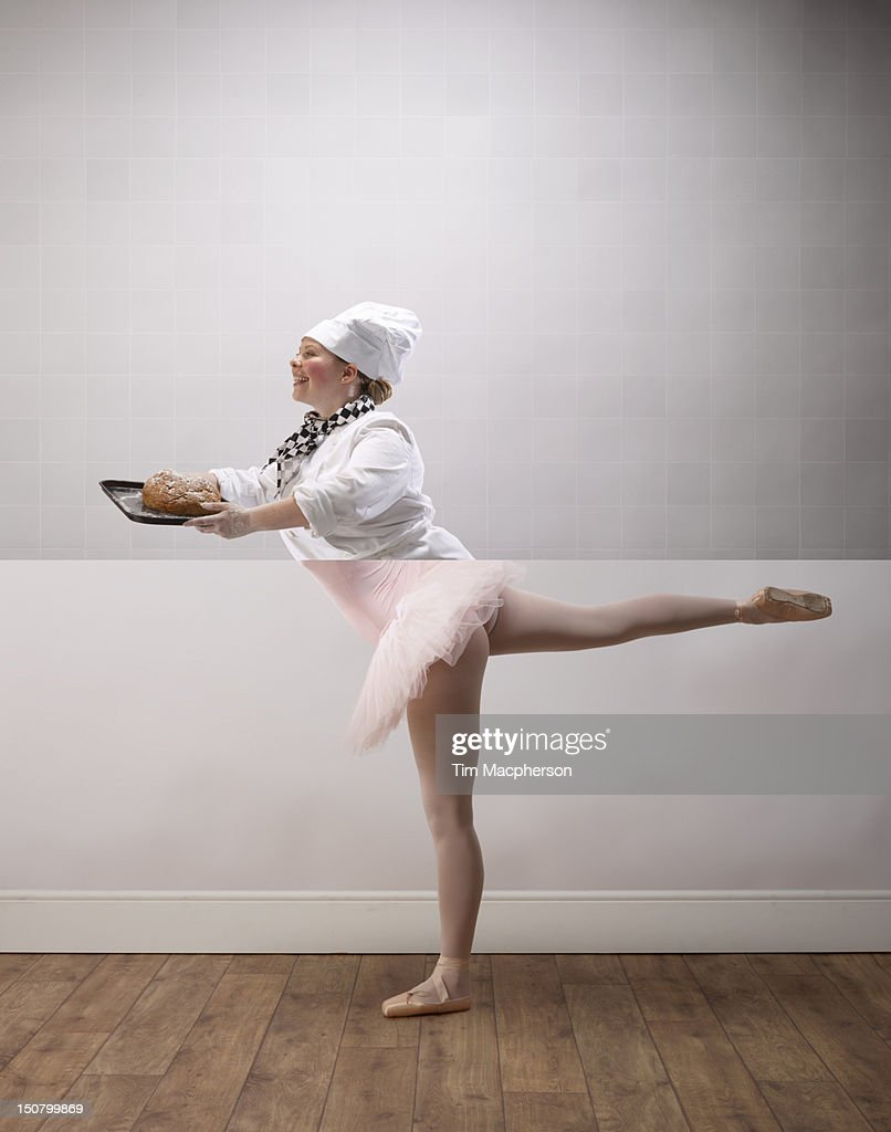 Female baker top, ballet dancer bottom