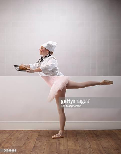 Female baker top, ballet dancer bottom