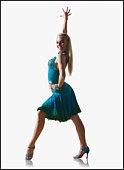 Female ballroom dancer