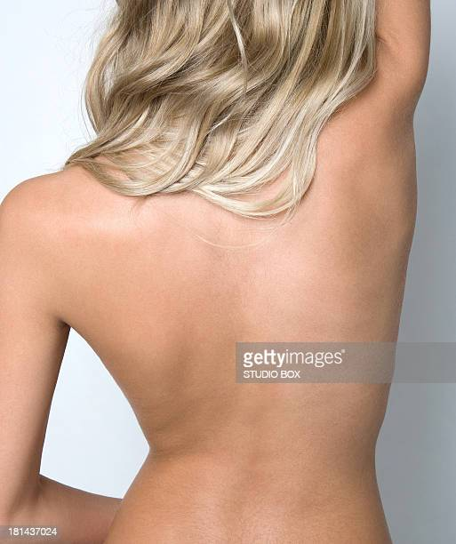 Female bare back with beautiful skin