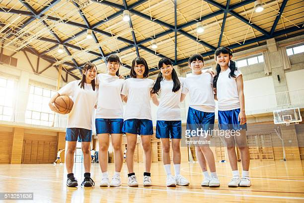 Female Basketball Team in Japanese High School