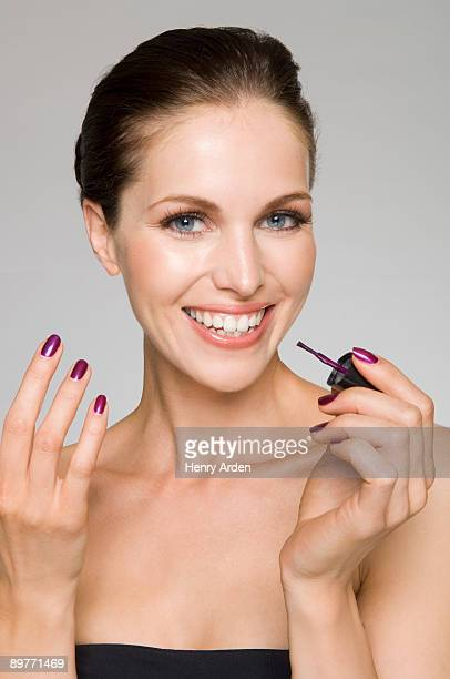 female beauty painting nails