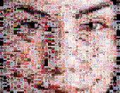 Weibliche Schönheit Porträt aus Make-up-Bilder