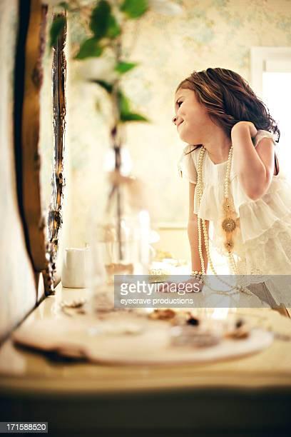 female beauty vintage happiness little girl