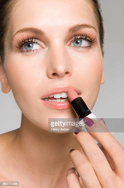 female beauty with lipstick make up
