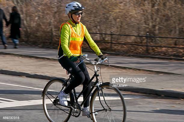 Frau Fahrradfahren, Central Park, Manhattan, New York City