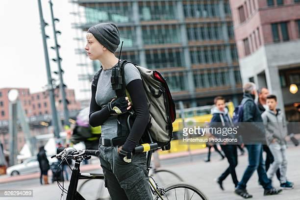 Female Bike Messenger