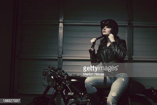 Weibliche biker-Verschluss Helm