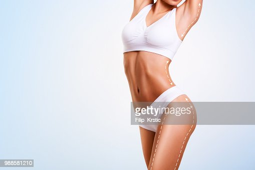 Female body, cosmetic surgery and skin liposuction. : Foto stock