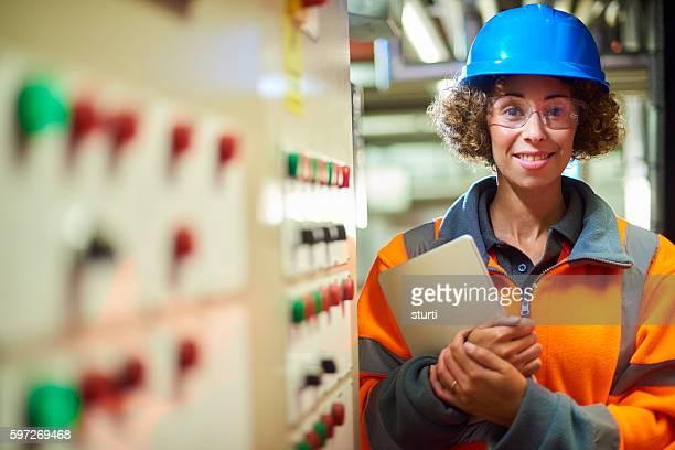 female boiler room engineer