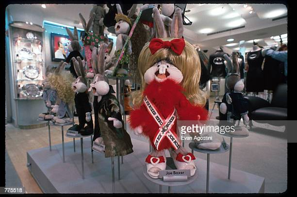 A female bunny wears Joe Boxer clothing at the Warner Bros Studio store October 23 1996 in New York City The store originally a three floor specialty...