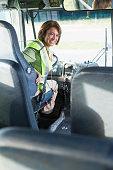 Female bus driver