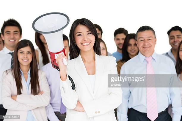 Weibliche business leader