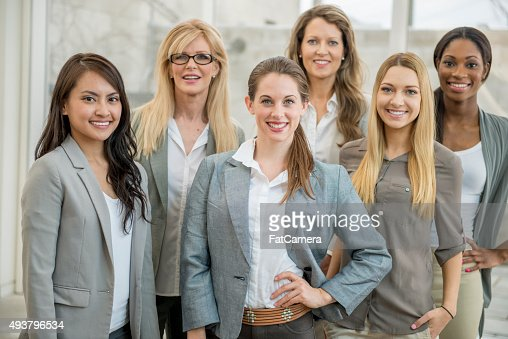 Female Business Professionals Together at Work
