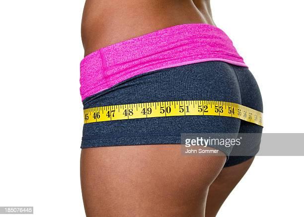 Weibliches Gesäß mit workout-Kleidung