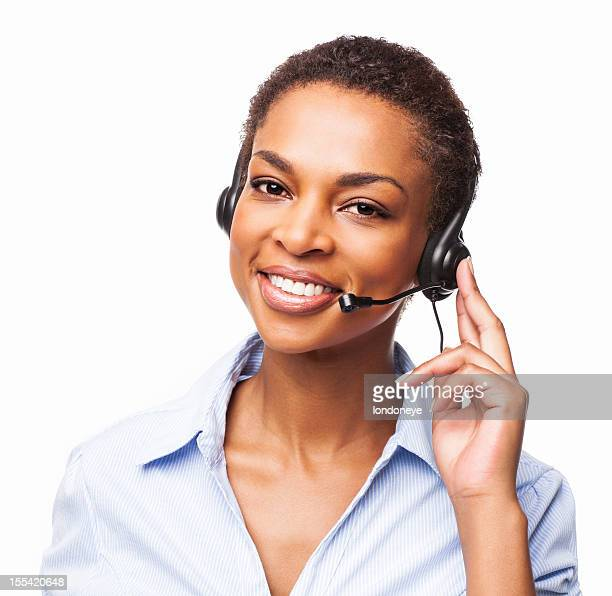 Female Call Center Executive  - Isolated