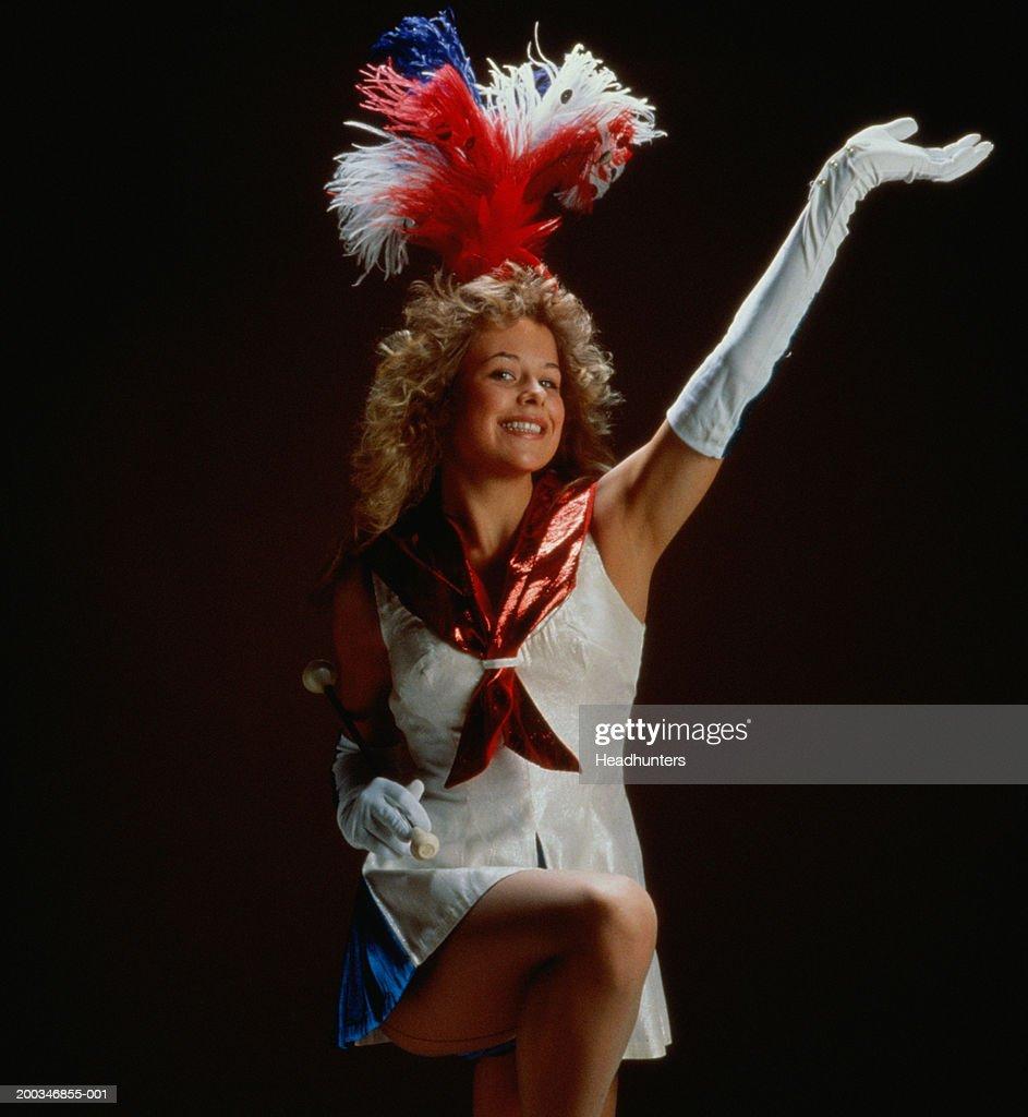 Female cheerleader, portrait : Stock Photo