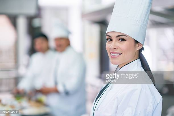 Female chef catering