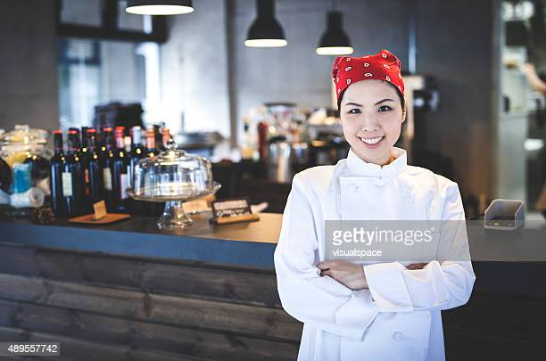 Female Chief Chef in a Restaurant