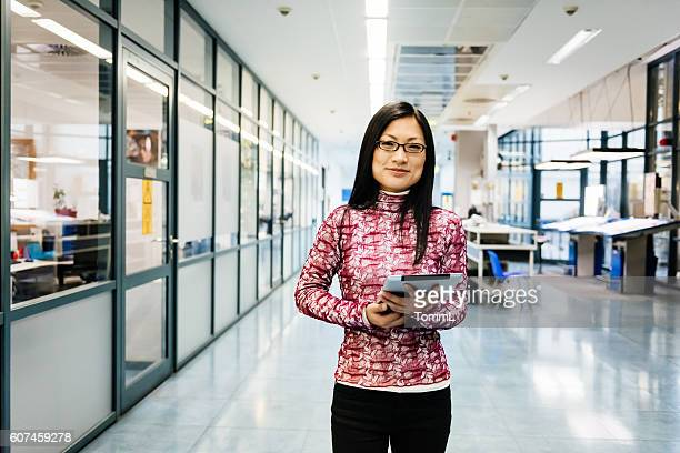Female chinese engineer portrait