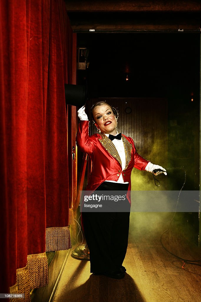 Female Circus Performer on Stage