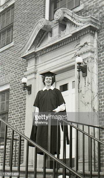 female college graduate 1950, retro