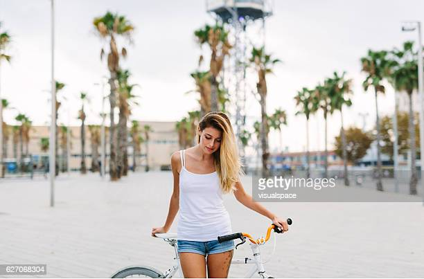 Female Cyclist Portrait
