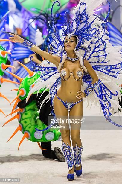 Female dancer at carnival in Argentina Gualeguaychu