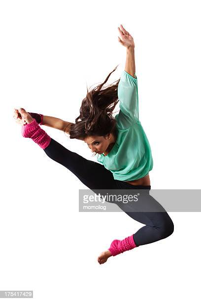 Female dancer jumping