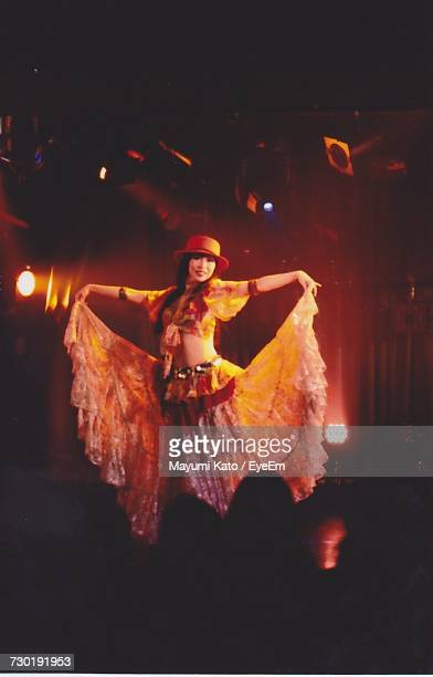 Female Dancer Performing On Stage At Nightclub